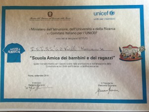 Attestato Unicef